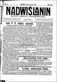 Nadwiślanin. Gazeta Ziemi Chełmińskiej, 1925.01.14 R. 7 nr 4
