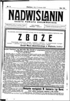 Nadwiślanin. Gazeta Ziemi Chełmińskiej, 1925.01.17 R. 7 nr 5