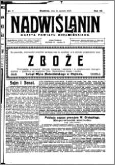 Nadwiślanin. Gazeta Ziemi Chełmińskiej, 1925.01.24 R. 7 nr 7