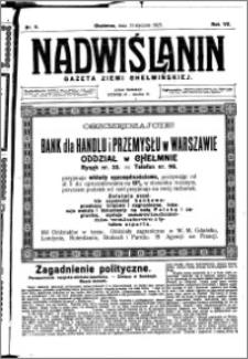 Nadwiślanin. Gazeta Ziemi Chełmińskiej, 1925.01.31 R. 7 nr 9