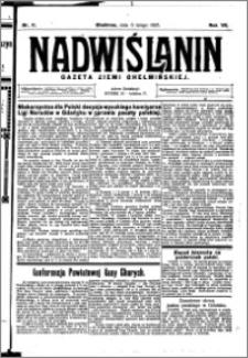Nadwiślanin. Gazeta Ziemi Chełmińskiej, 1925.02.06 R. 7 nr 11