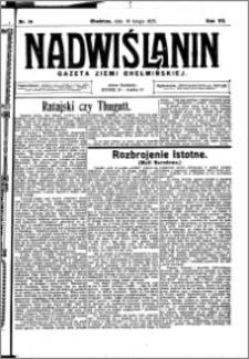 Nadwiślanin. Gazeta Ziemi Chełmińskiej, 1925.02.18 R. 7 nr 14