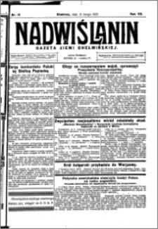 Nadwiślanin. Gazeta Ziemi Chełmińskiej, 1925.02.21 R. 7 nr 15
