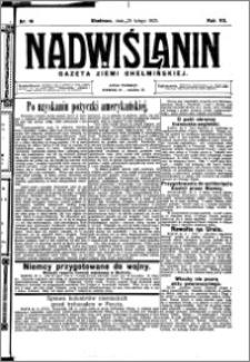 Nadwiślanin. Gazeta Ziemi Chełmińskiej, 1925.02.25 R. 7 nr 16