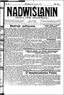 Nadwiślanin. Gazeta Ziemi Chełmińskiej, 1925.03.04 R. 7 nr 18