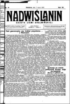 Nadwiślanin. Gazeta Ziemi Chełmińskiej, 1925.03.07 R. 7 nr 19