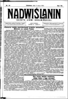 Nadwiślanin. Gazeta Ziemi Chełmińskiej, 1925.03.11 R. 7 nr 20
