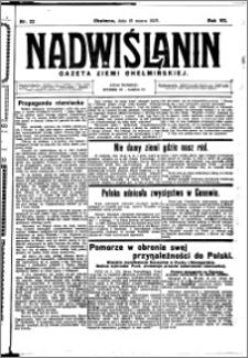 Nadwiślanin. Gazeta Ziemi Chełmińskiej, 1925.03.18 R. 7 nr 22