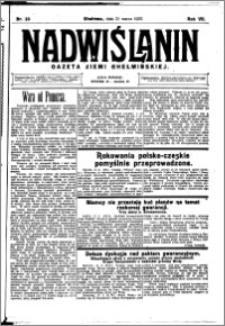 Nadwiślanin. Gazeta Ziemi Chełmińskiej, 1925.03.21 R. 7 nr 23