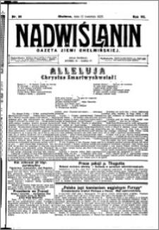 Nadwiślanin. Gazeta Ziemi Chełmińskiej, 1925.04.12 R. 7 nr 29