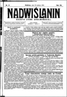 Nadwiślanin. Gazeta Ziemi Chełmińskiej, 1925.04.18 R. 7 nr 31
