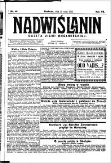 Nadwiślanin. Gazeta Ziemi Chełmińskiej, 1925.05.20 R. 7 nr 40