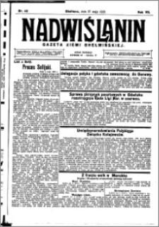 Nadwiślanin. Gazeta Ziemi Chełmińskiej, 1925.05.27 R. 7 nr 42