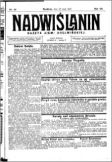 Nadwiślanin. Gazeta Ziemi Chełmińskiej, 1925.05.30 R. 7 nr 43