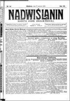 Nadwiślanin. Gazeta Ziemi Chełmińskiej, 1925.06.06 R. 7 nr 45