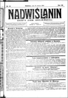 Nadwiślanin. Gazeta Ziemi Chełmińskiej, 1925.06.10 R. 7 nr 46