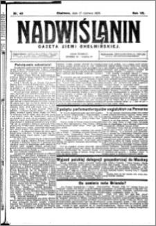 Nadwiślanin. Gazeta Ziemi Chełmińskiej, 1925.06.17 R. 7 nr 48