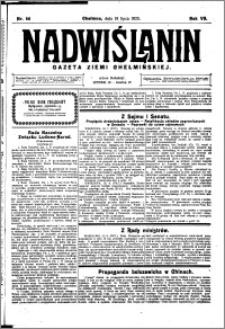 Nadwiślanin. Gazeta Ziemi Chełmińskiej, 1925.07.18 R. 7 nr 56