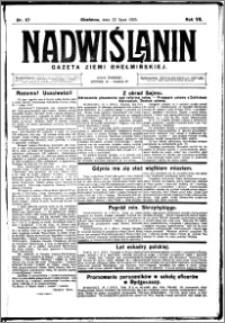 Nadwiślanin. Gazeta Ziemi Chełmińskiej, 1925.07.22 R. 7 nr 57