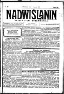Nadwiślanin. Gazeta Ziemi Chełmińskiej, 1925.08.05 R. 7 nr 61