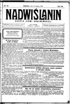 Nadwiślanin. Gazeta Ziemi Chełmińskiej, 1925.08.15 R. 7 nr 64