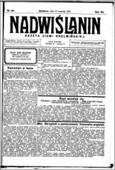 Nadwiślanin. Gazeta Ziemi Chełmińskiej, 1925.08.19 R. 7 nr 65