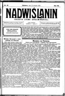 Nadwiślanin. Gazeta Ziemi Chełmińskiej, 1925.08.22 R. 7 nr 66
