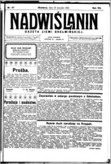 Nadwiślanin. Gazeta Ziemi Chełmińskiej, 1925.08.26 R. 7 nr 67