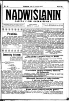 Nadwiślanin. Gazeta Ziemi Chełmińskiej, 1925.08.29 R. 7 nr 68