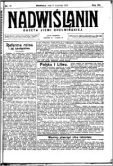 Nadwiślanin. Gazeta Ziemi Chełmińskiej, 1925.09.09 R. 7 nr 71