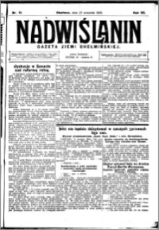 Nadwiślanin. Gazeta Ziemi Chełmińskiej, 1925.09.23 R. 7 nr 75
