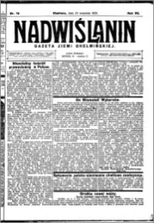 Nadwiślanin. Gazeta Ziemi Chełmińskiej, 1925.09.26 R. 7 nr 76