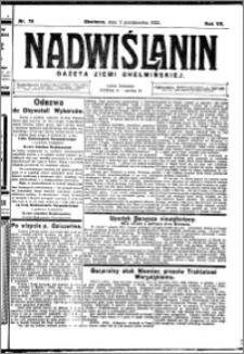 Nadwiślanin. Gazeta Ziemi Chełmińskiej, 1925.10.03 R. 7 nr 78
