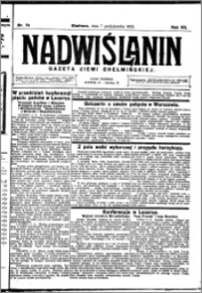 Nadwiślanin. Gazeta Ziemi Chełmińskiej, 1925.10.07 R. 7 nr 79