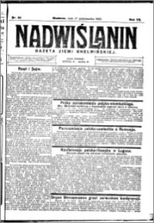 Nadwiślanin. Gazeta Ziemi Chełmińskiej, 1925.10.17 R. 7 nr 82