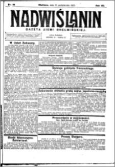 Nadwiślanin. Gazeta Ziemi Chełmińskiej, 1925.10.31 R. 7 nr 86