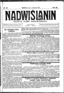 Nadwiślanin. Gazeta Ziemi Chełmińskiej, 1925.11.07 R. 7 nr 88