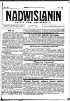 Nadwiślanin. Gazeta Ziemi Chełmińskiej, 1925.11.14 R. 7 nr 90