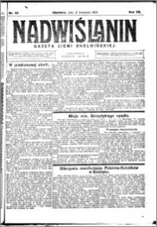 Nadwiślanin. Gazeta Ziemi Chełmińskiej, 1925.11.21 R. 7 nr 92