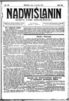 Nadwiślanin. Gazeta Ziemi Chełmińskiej, 1925.12.12 R. 7 nr 98