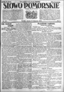 Słowo Pomorskie 1925.11.17 R.5 nr 267