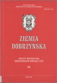 Ziemia Dobrzyńska : Zeszyty Historyczne Dobrzyńskiego Oddziału WTN, VII