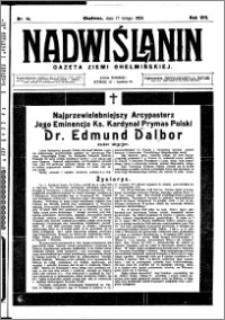 Nadwiślanin. Gazeta Ziemi Chełmińskiej, 1926.02.17 R. 8 nr 14