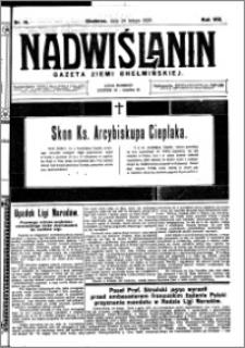 Nadwiślanin. Gazeta Ziemi Chełmińskiej, 1926.02.24 R. 8 nr 16