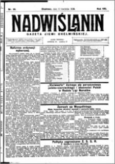Nadwiślanin. Gazeta Ziemi Chełmińskiej, 1926.04.10 R. 8 nr 29