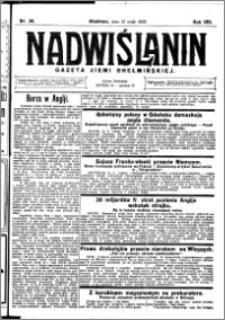 Nadwiślanin. Gazeta Ziemi Chełmińskiej, 1926.05.12 R. 8 nr 38