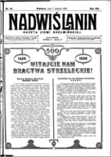 Nadwiślanin. Gazeta Ziemi Chełmińskiej, 1926.08.07 R. 8 nr 63