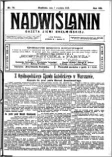 Nadwiślanin. Gazeta Ziemi Chełmińskiej, 1926.09.01 R. 8 nr 70