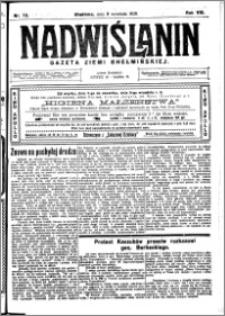 Nadwiślanin. Gazeta Ziemi Chełmińskiej, 1926.09.08 R. 8 nr 72