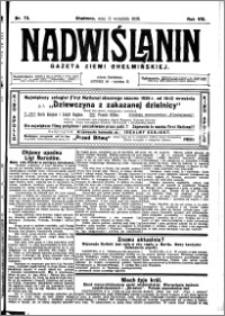Nadwiślanin. Gazeta Ziemi Chełmińskiej, 1926.09.11 R. 8 nr 73